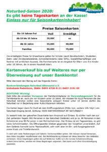 Naturbad Altenautal preise